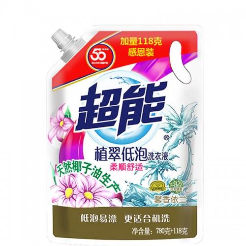 超能植翠洗衣液780g+118g