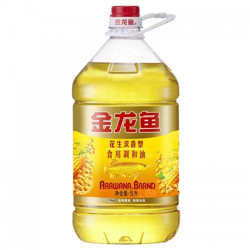 金龙鱼花生浓香食用调和油5L